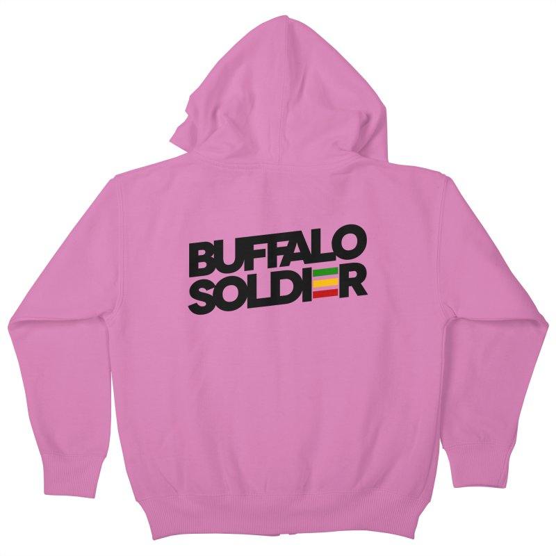 Buffalo Soldier (Dark) Kids Zip-Up Hoody by Rasta University Shop