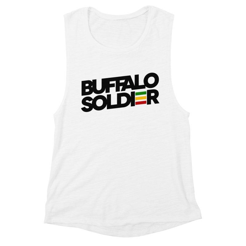 Buffalo Soldier (Dark) Women's Muscle Tank by Rasta University Shop