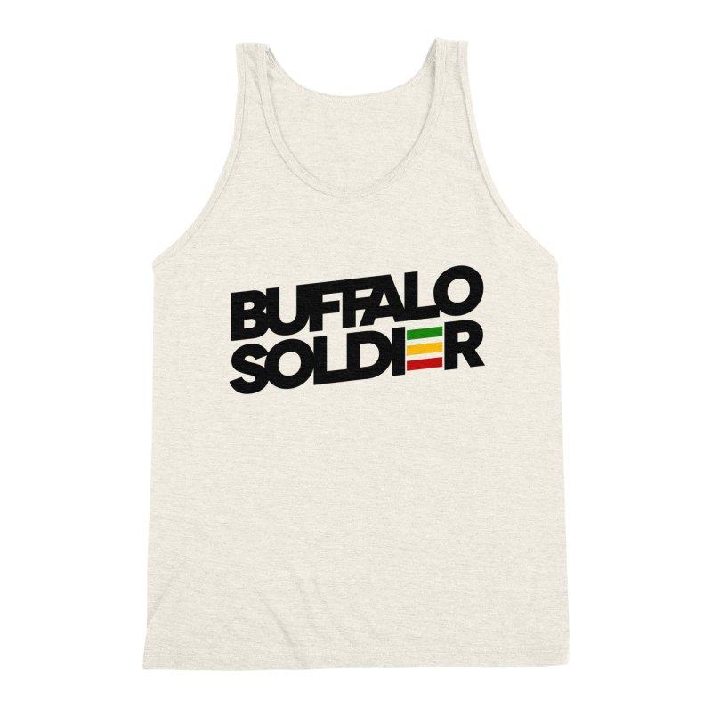 Buffalo Soldier (Dark) Men's Triblend Tank by Rasta University Shop