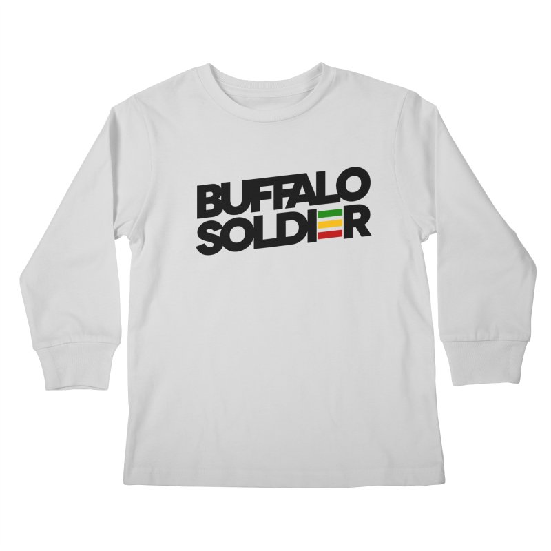 Buffalo Soldier (Dark) Kids Longsleeve T-Shirt by Rasta University Shop