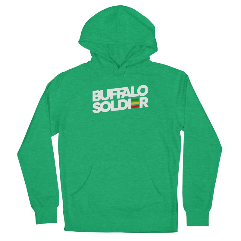 Buffalo Soldier (Light) Women's French Terry Pullover Hoody by Rasta University Shop