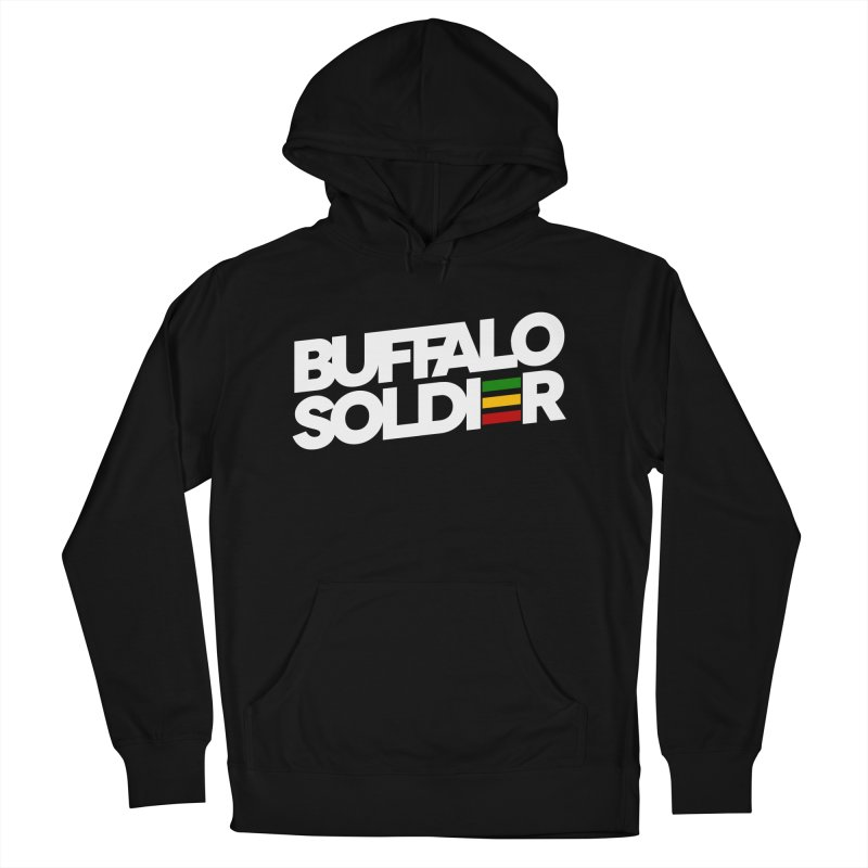 Buffalo Soldier (Light) Men's French Terry Pullover Hoody by Rasta University Shop