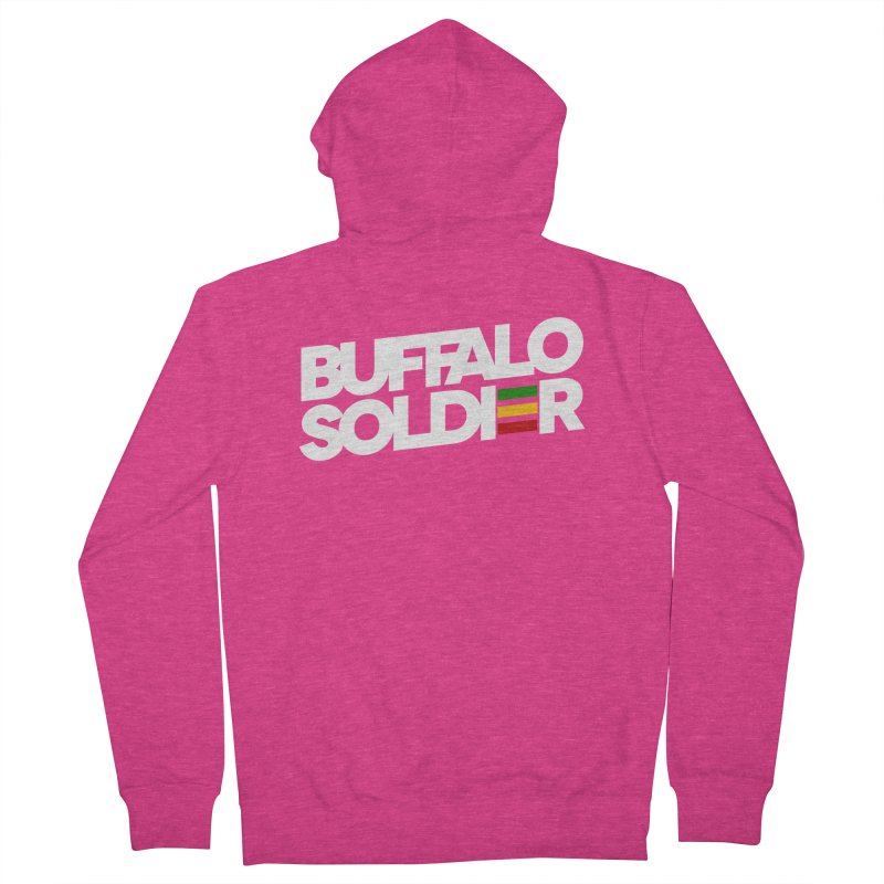 Buffalo Soldier (Light) Women's French Terry Zip-Up Hoody by Rasta University Shop