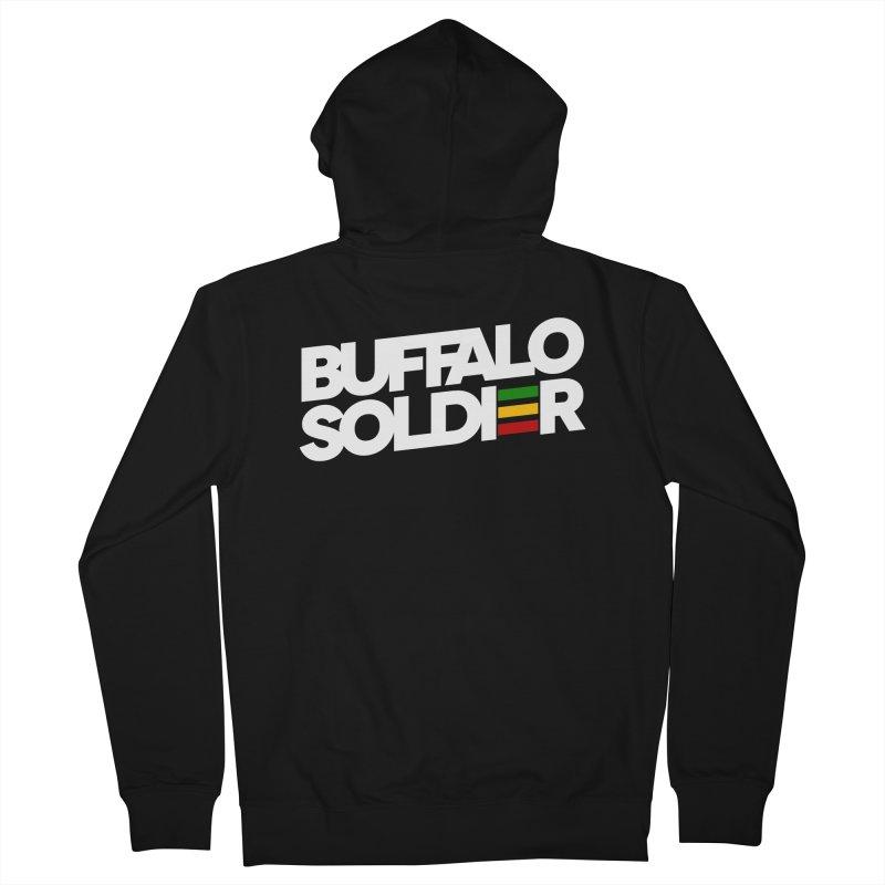 Buffalo Soldier (Light) Women's French Terry Zip-Up Hoody by Rasta University Shop