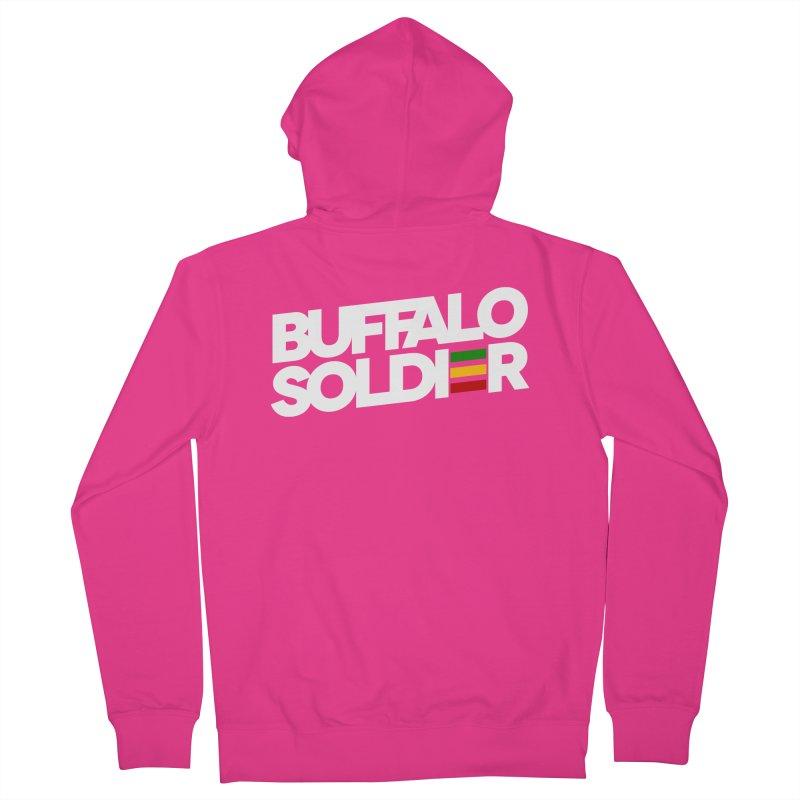 Buffalo Soldier (Light) Men's Zip-Up Hoody by Rasta University Shop