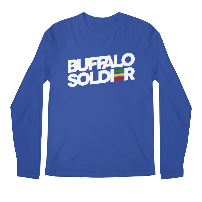 Buffalo Soldier (Light) Men's Regular Longsleeve T-Shirt by Rasta University Shop