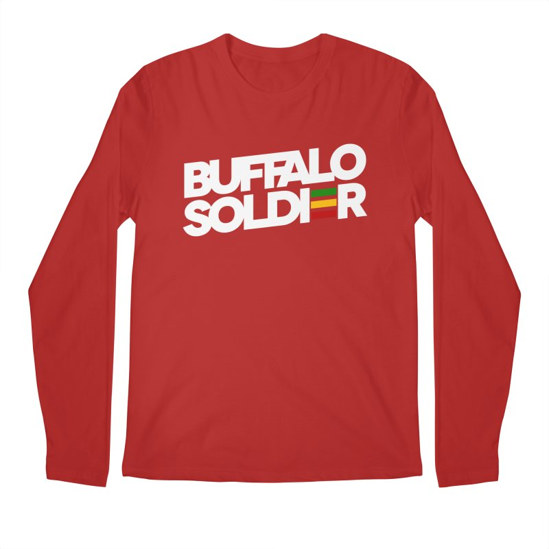 Buffalo Soldier (Light) Men's Longsleeve T-Shirt by Rasta University Shop