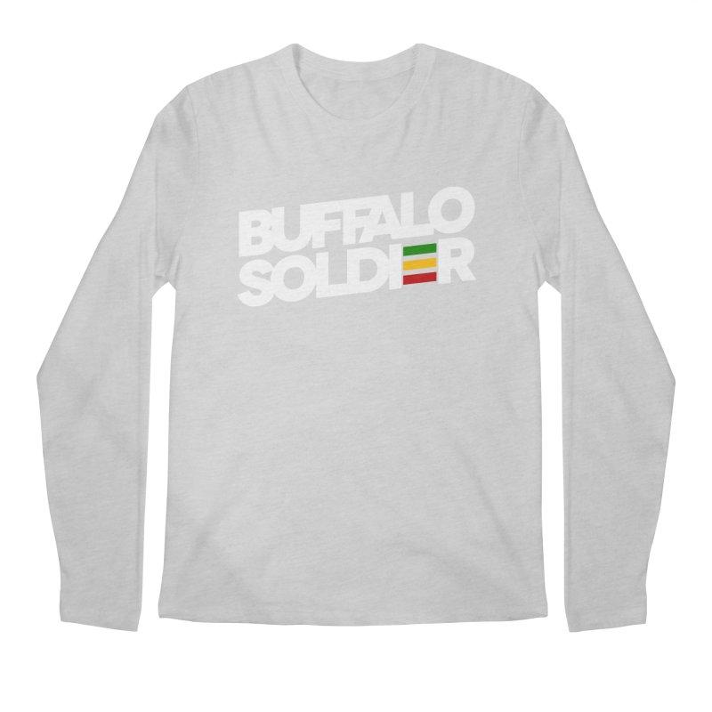 Buffalo Soldier (Light) Men's Regular Longsleeve T-Shirt by Rasta University Shop