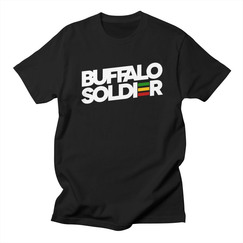 Buffalo Soldier (Light) in Men's T-shirt Black by Rasta University Shop