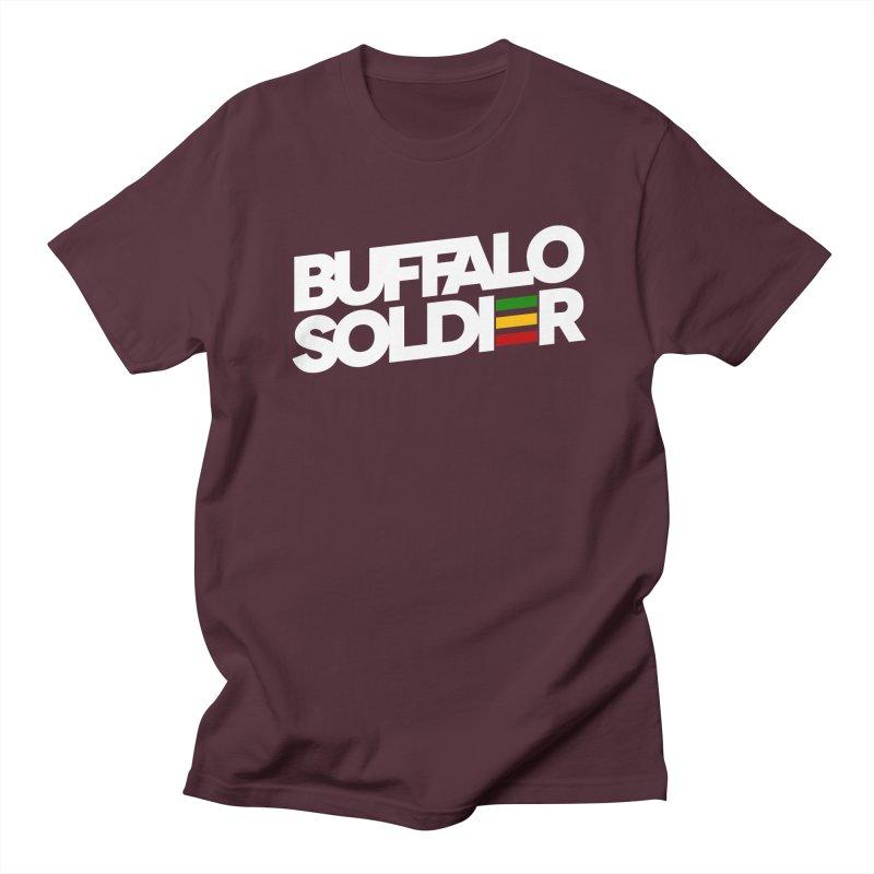 Buffalo Soldier (Light) Men's Regular T-Shirt by Rasta University Shop