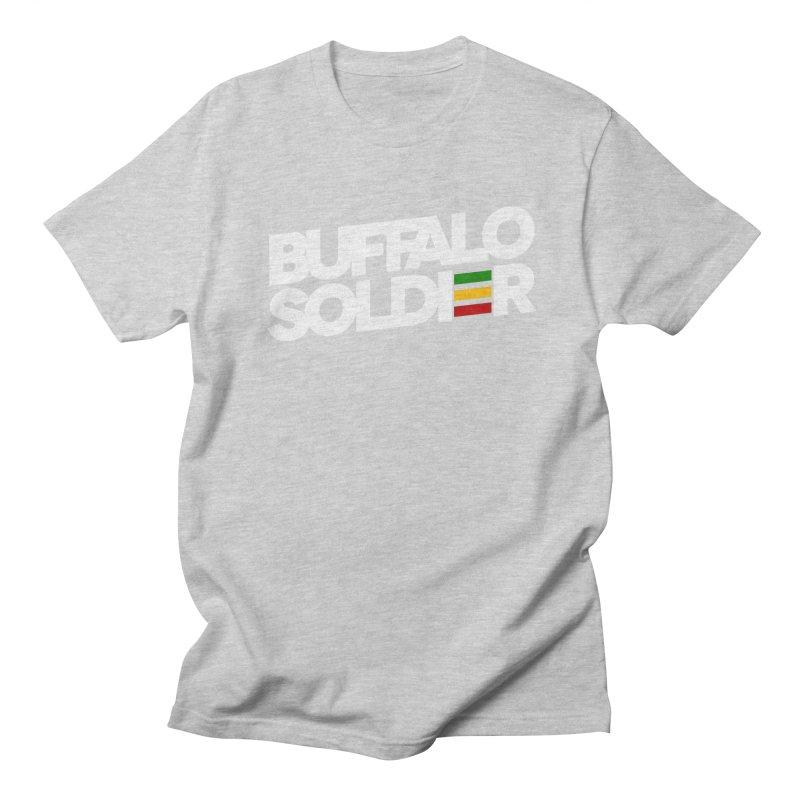 Buffalo Soldier (Light) Men's T-shirt by Rasta University Shop