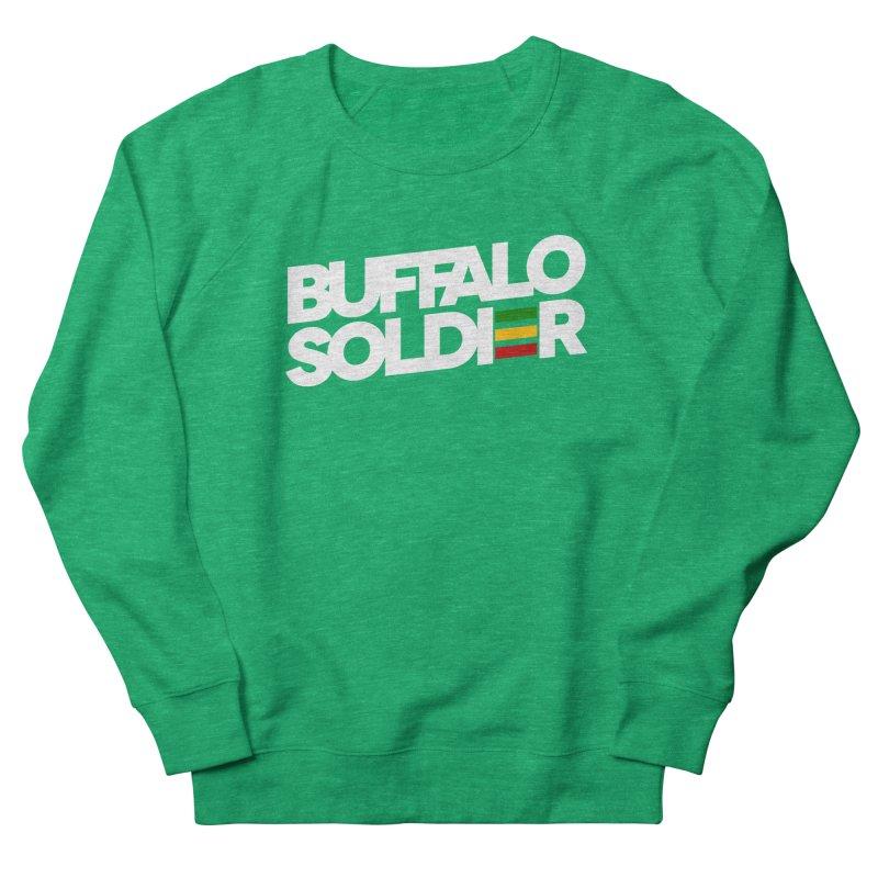 Buffalo Soldier (Light) Men's French Terry Sweatshirt by Rasta University Shop
