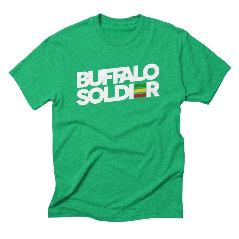Buffalo Soldier (Light) Men's Triblend T-shirt by Rasta University Shop