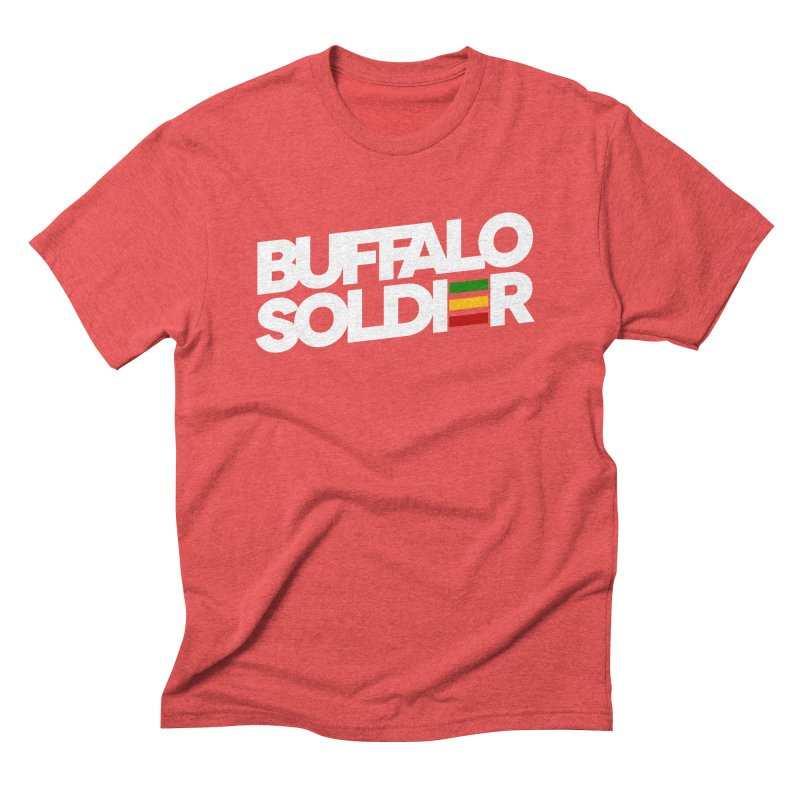 Buffalo Soldier (Light) Men's Triblend T-Shirt by Rasta University Shop