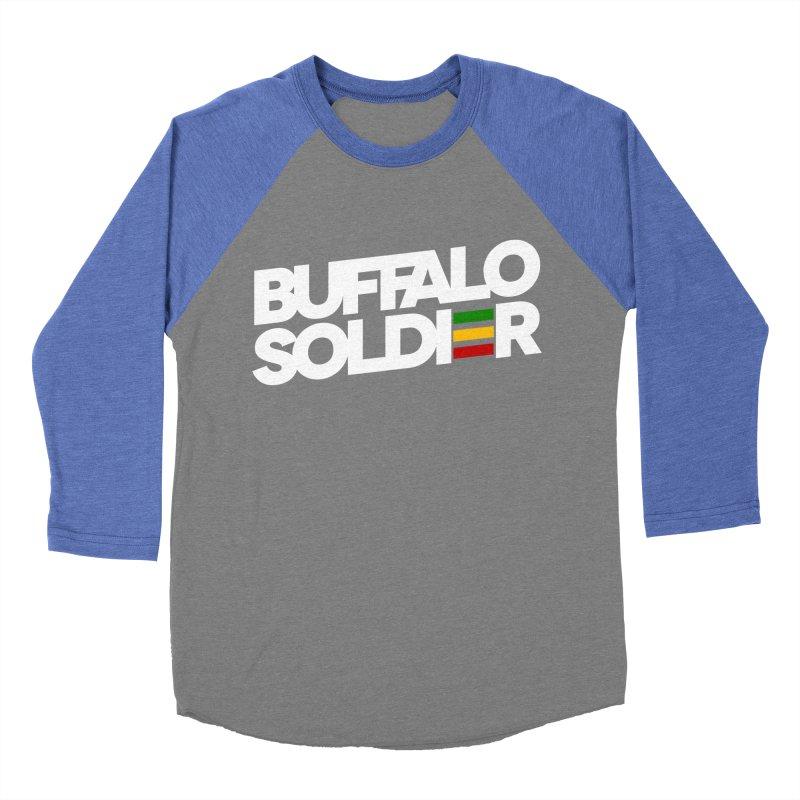 Buffalo Soldier (Light) Women's Baseball Triblend T-Shirt by Rasta University Shop