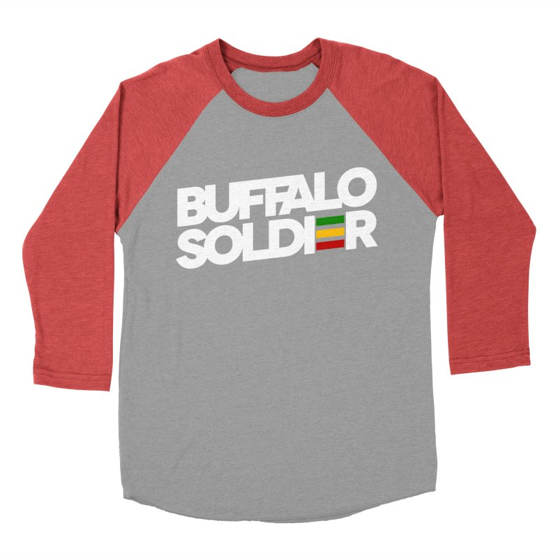 Buffalo Soldier (Light) Women's Baseball Triblend Longsleeve T-Shirt by Rasta University Shop