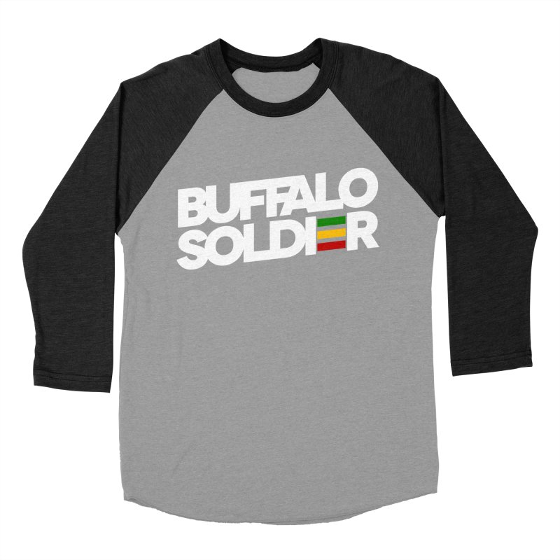 Buffalo Soldier (Light) Men's Baseball Triblend Longsleeve T-Shirt by Rasta University Shop