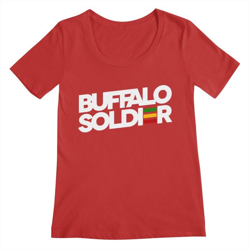 Buffalo Soldier (Light) Women's Regular Scoop Neck by Rasta University Shop