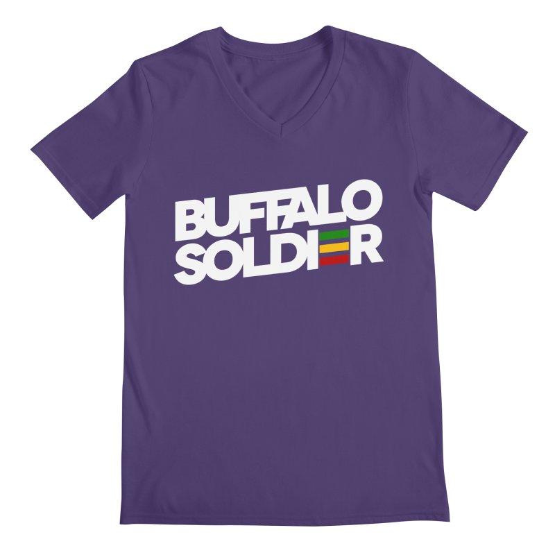 Buffalo Soldier (Light) Men's V-Neck by Rasta University Shop