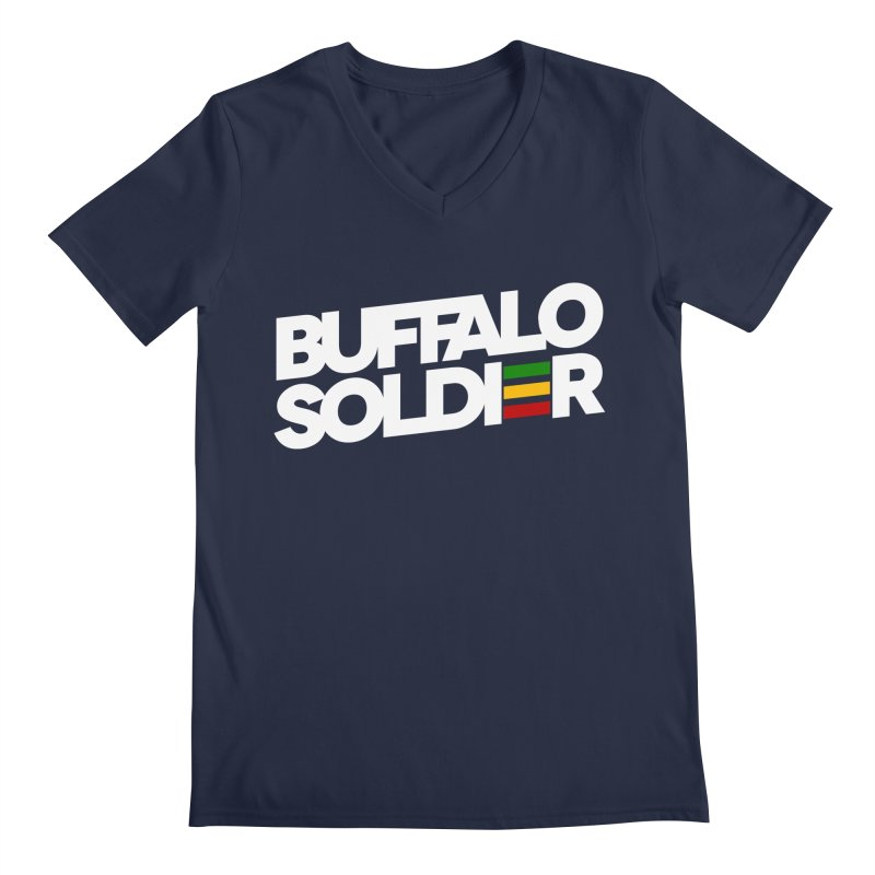 Buffalo Soldier (Light) Men's Regular V-Neck by Rasta University Shop