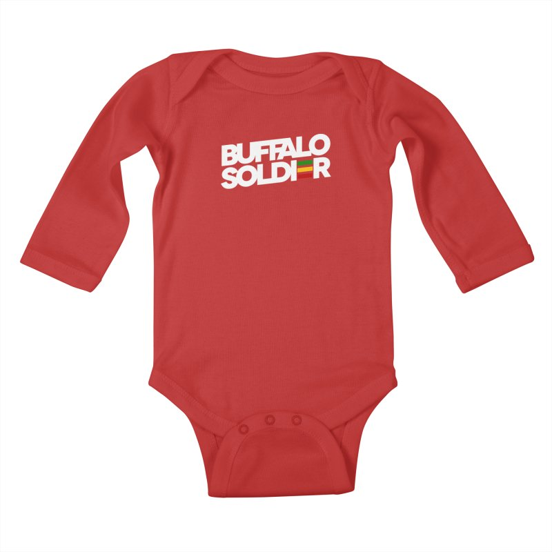 Buffalo Soldier (Light) Kids Baby Longsleeve Bodysuit by Rasta University Shop