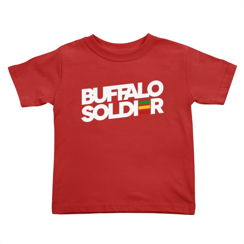 Buffalo Soldier (Light) Kids Toddler T-Shirt by Rasta University Shop