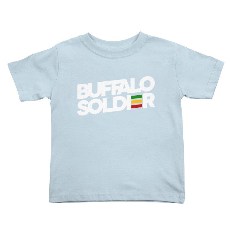 Buffalo Soldier (Light) Kids Toddler T-Shirt by Rasta University Shop