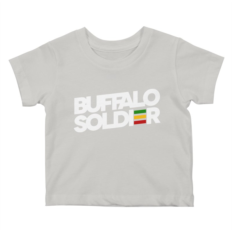 Buffalo Soldier (Light) Kids Baby T-Shirt by Rasta University Shop