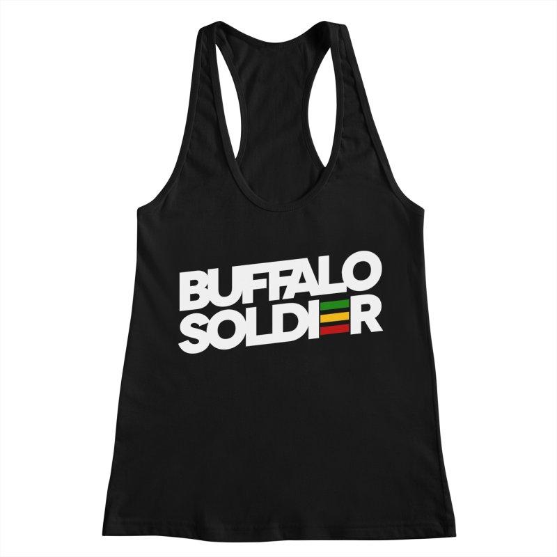 Buffalo Soldier (Light) Women's Racerback Tank by Rasta University Shop