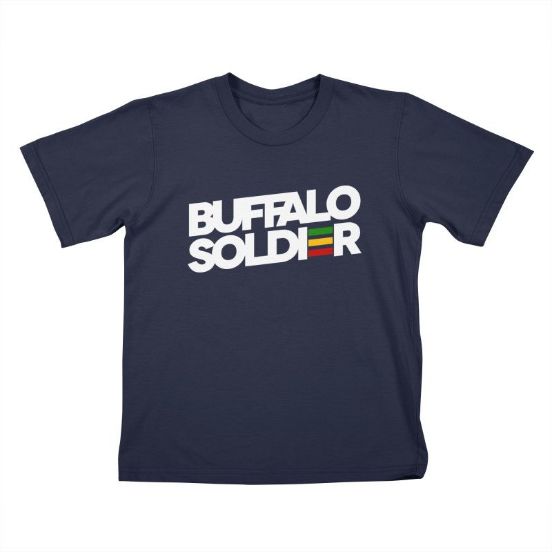 Buffalo Soldier (Light) Kids T-Shirt by Rasta University Shop