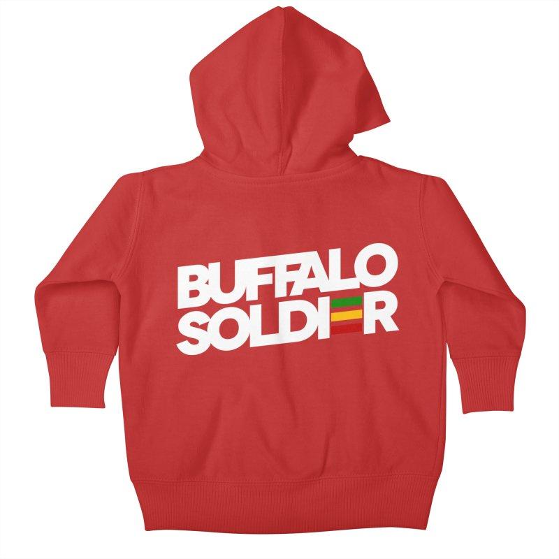 Buffalo Soldier (Light) Kids Baby Zip-Up Hoody by Rasta University Shop