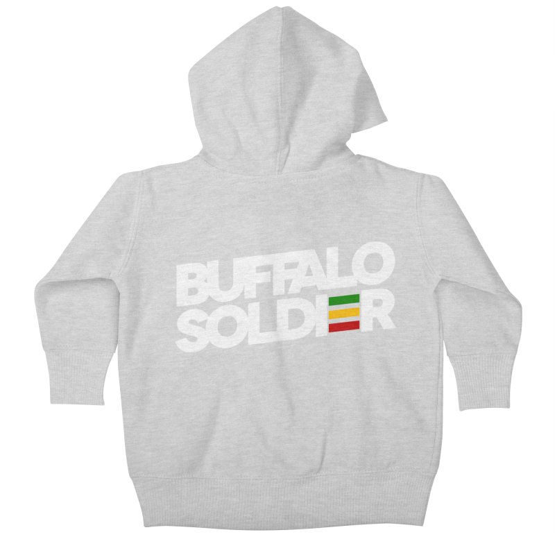 Buffalo Soldier (Light) Kids Baby Zip-Up Hoody by Rasta University Shop
