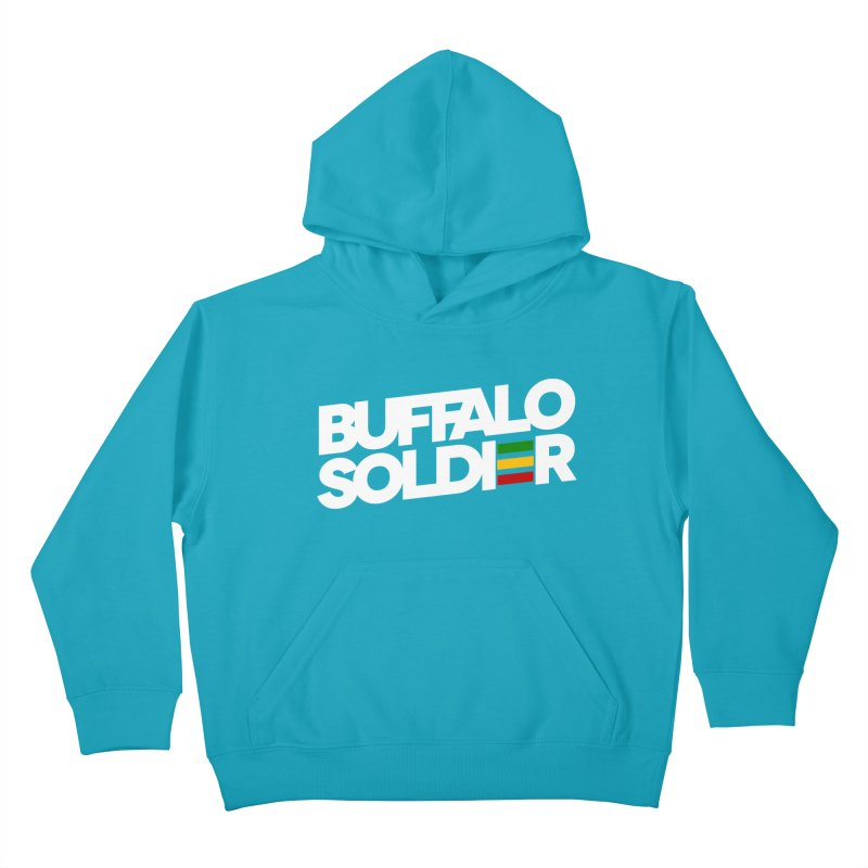 Buffalo Soldier (Light) Kids Pullover Hoody by Rasta University Shop