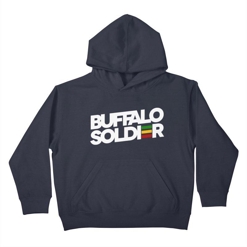 Buffalo Soldier (Light) Kids Pullover Hoody by Rasta University Shop
