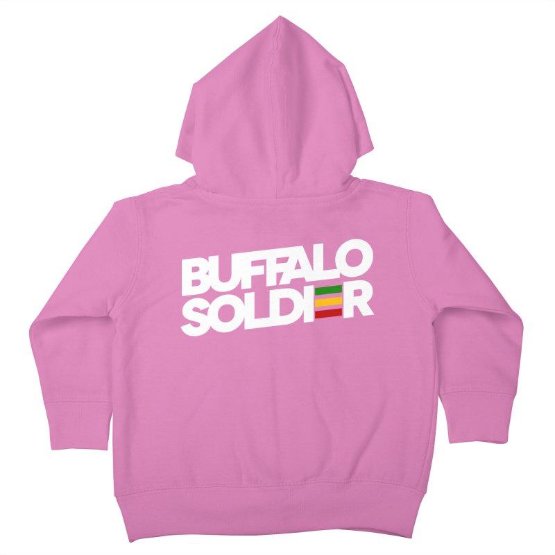 Buffalo Soldier (Light) Kids Toddler Zip-Up Hoody by Rasta University Shop