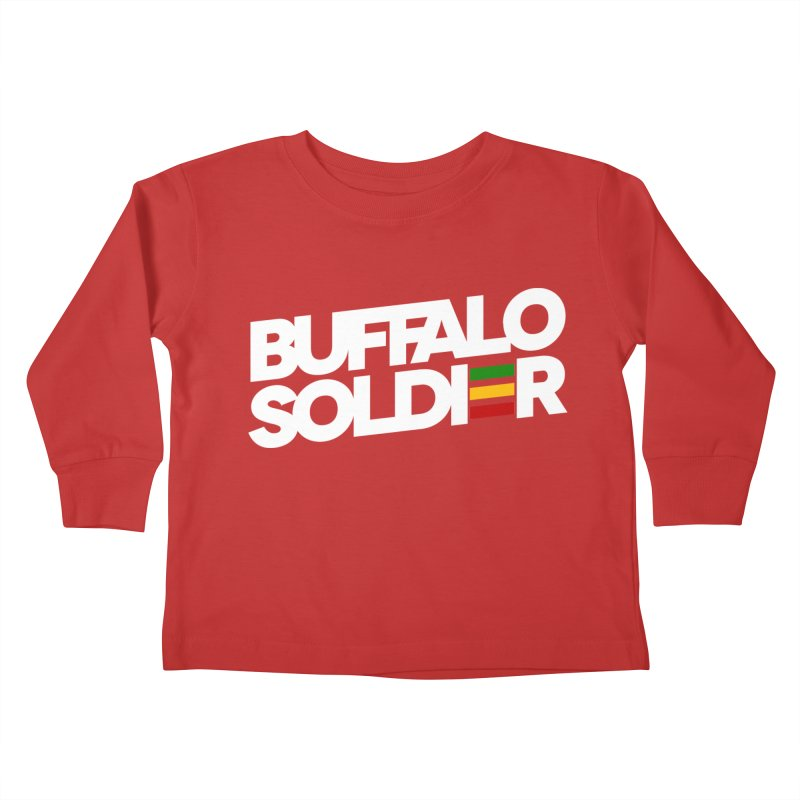 Buffalo Soldier (Light) Kids Toddler Longsleeve T-Shirt by Rasta University Shop