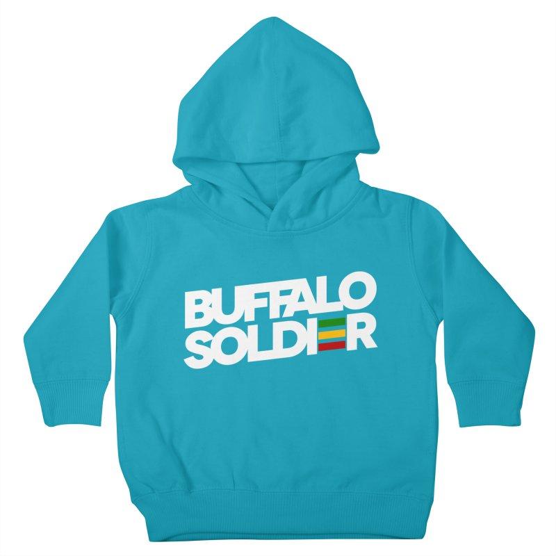 Buffalo Soldier (Light) Kids Toddler Pullover Hoody by Rasta University Shop