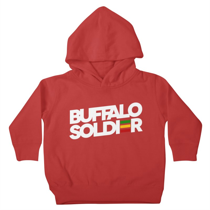Buffalo Soldier (Light) Kids Toddler Pullover Hoody by Rasta University Shop