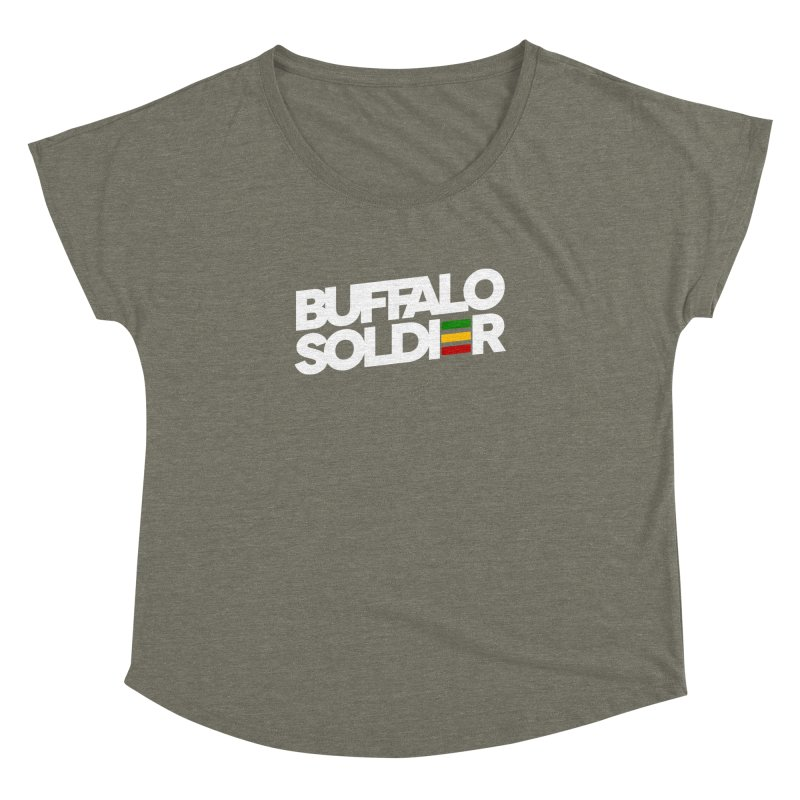 Buffalo Soldier (Light) Women's Dolman Scoop Neck by Rasta University Shop