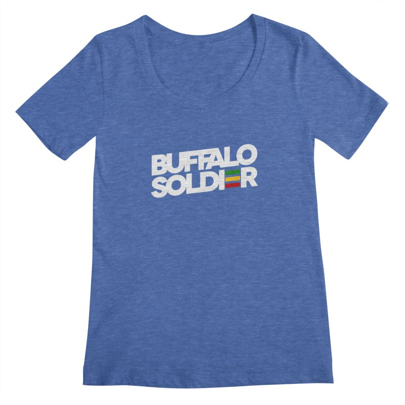 Buffalo Soldier (Light) Women's Scoopneck by Rasta University Shop