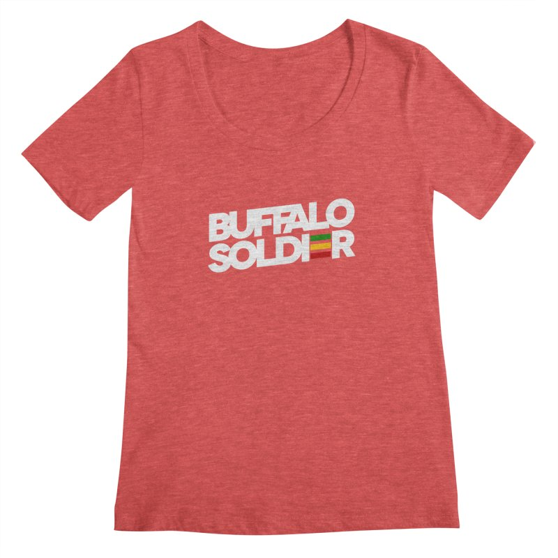 Buffalo Soldier (Light) Women's Regular Scoop Neck by Rasta University Shop