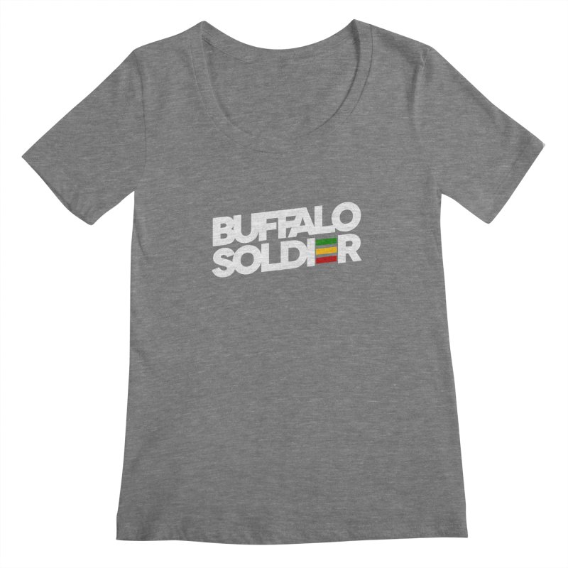 Buffalo Soldier (Light) Women's Scoopneck by Rasta University Shop