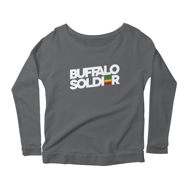 Buffalo Soldier (Light) Women's Scoop Neck Longsleeve T-Shirt by Rasta University Shop