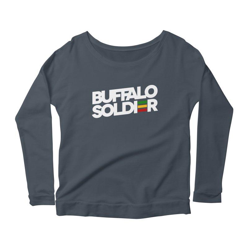 Buffalo Soldier (Light) Women's Longsleeve Scoopneck  by Rasta University Shop