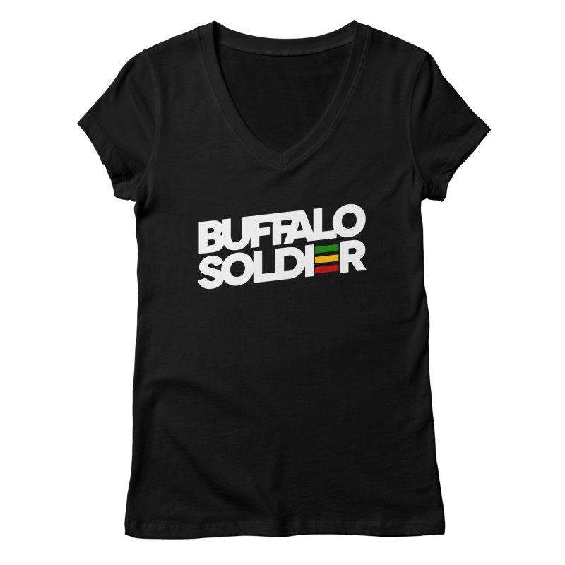 Buffalo Soldier (Light) Women's V-Neck by Rasta University Shop