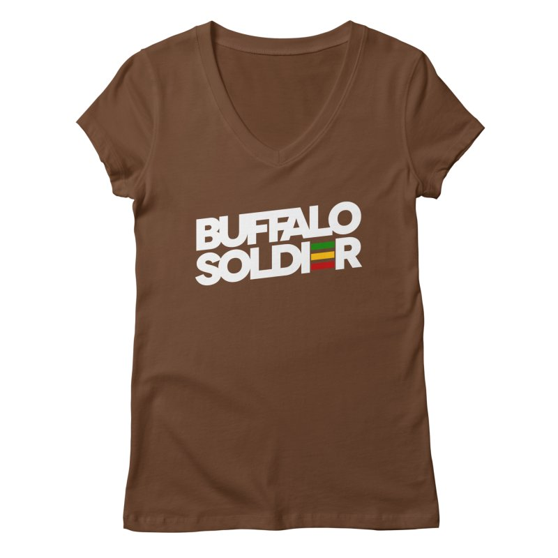 Buffalo Soldier (Light) Women's V-Neck by Rasta University Shop