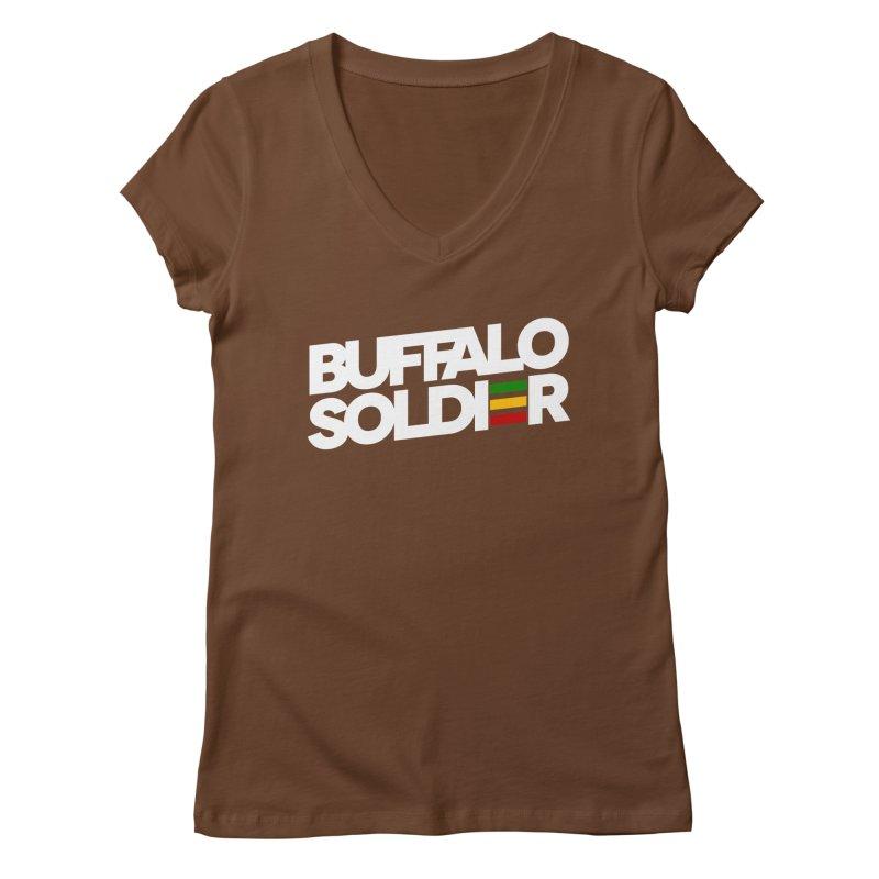 Buffalo Soldier (Light) Women's Regular V-Neck by Rasta University Shop