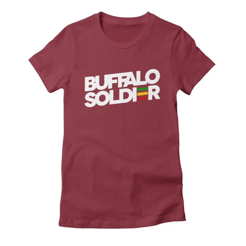 Buffalo Soldier (Light) Women's Fitted T-Shirt by Rasta University Shop