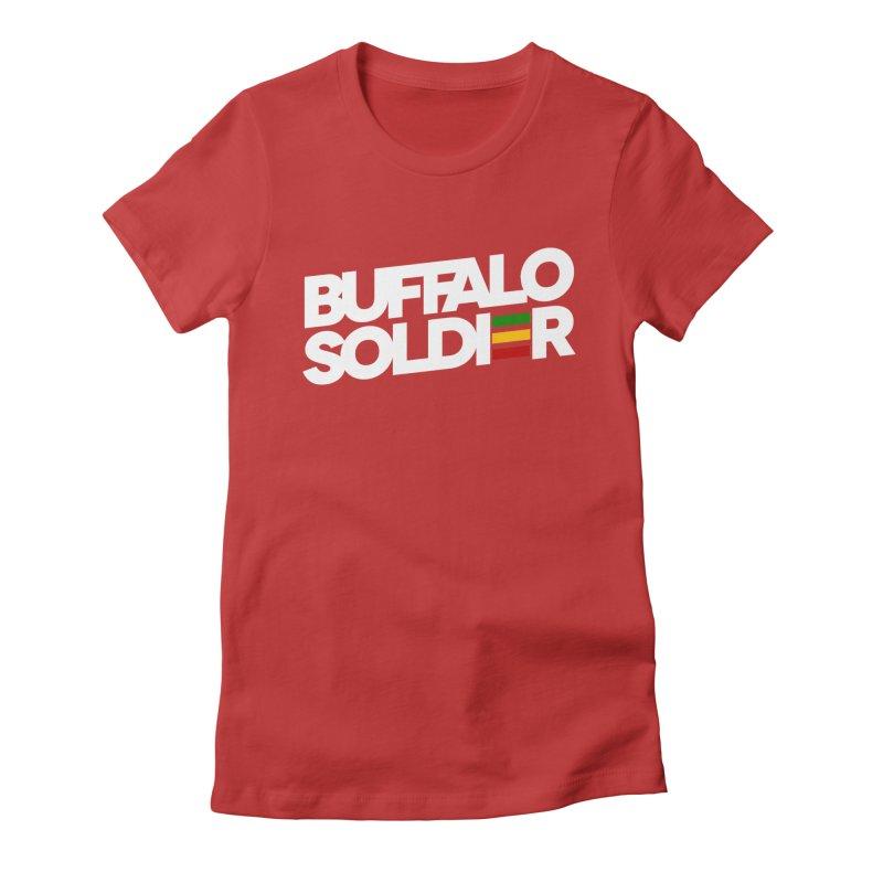 Buffalo Soldier (Light) Women's Fitted T-Shirt by Rasta University Shop