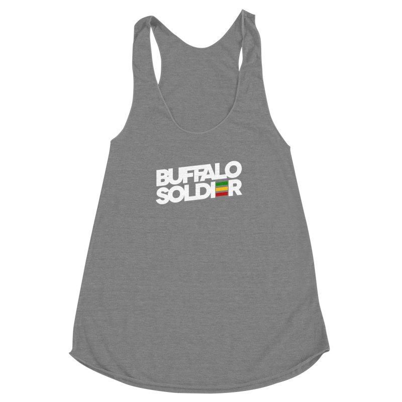 Buffalo Soldier (Light) Women's Racerback Triblend Tank by Rasta University Shop